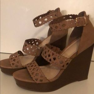 Tan Wedges by Shoe Dazzle